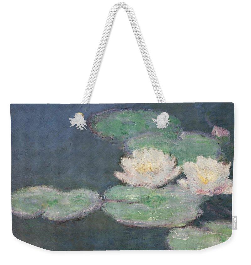 Waterlilies Weekender Tote Bag featuring the painting Waterlilies by Claude Monet
