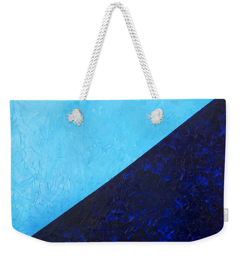 Impasto Weekender Tote Bag featuring the painting Water's Edge by JoAnn DePolo