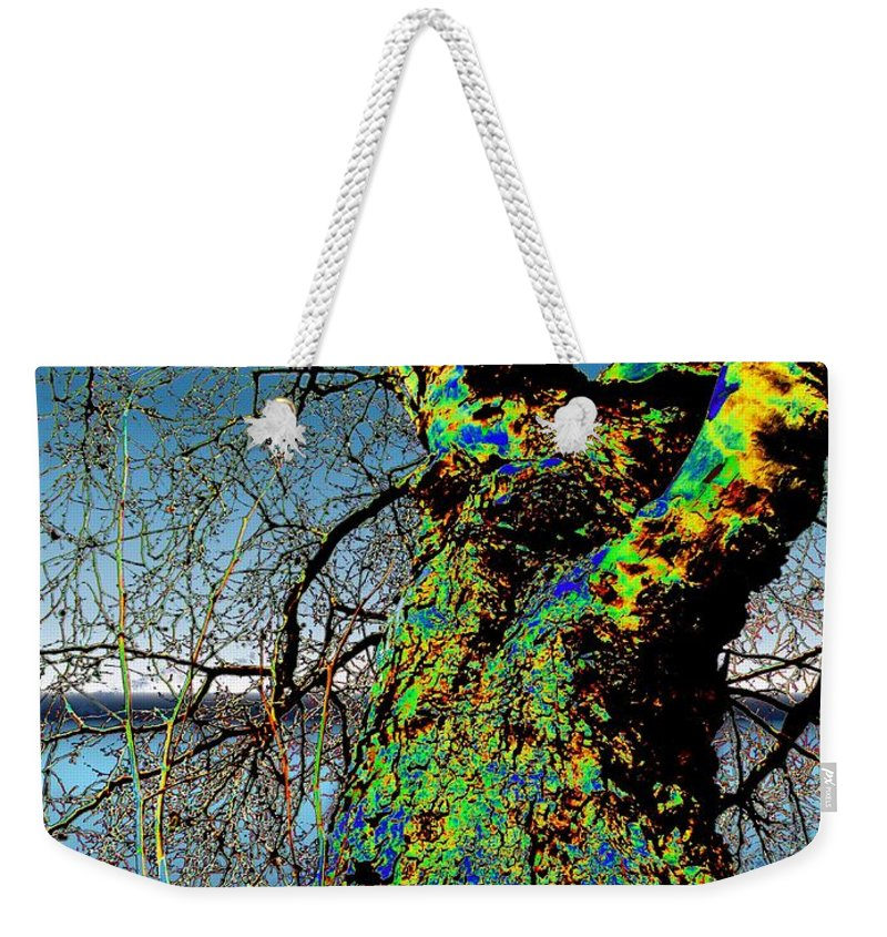 Tree Weekender Tote Bag featuring the photograph Waters Edge by Tim Allen