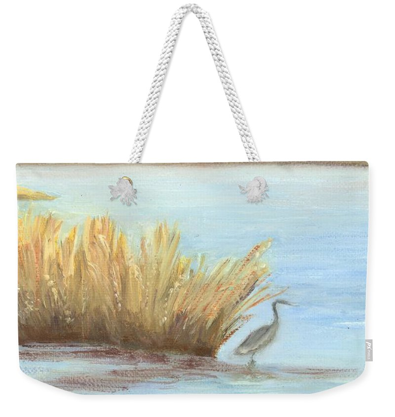Water Paintings Weekender Tote Bag featuring the painting Waterside by Deborah Butts