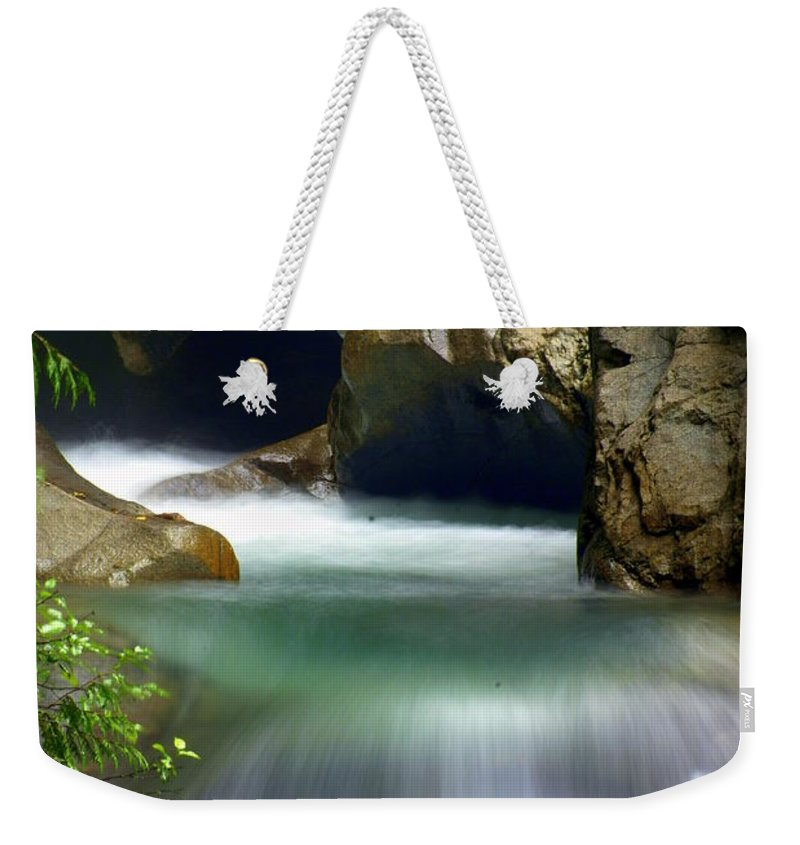 Stream Weekender Tote Bag featuring the photograph Waterworks by Marty Koch