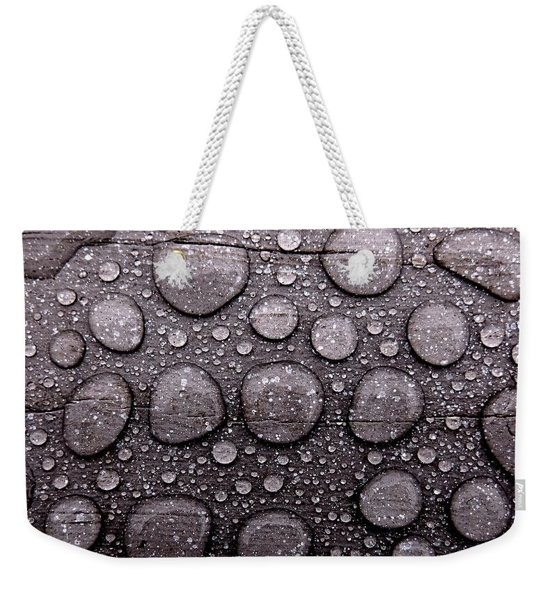 Water Weekender Tote Bag featuring the photograph Watery Beads by Tim Beebe