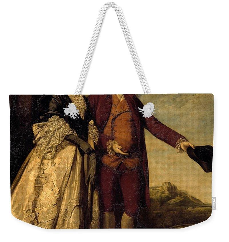 Sir Joshua Reynolds 1723–1792  Sir Watkin Williams-wynn And His Mother Weekender Tote Bag featuring the painting Watkin Williams by Sir Joshua Reynolds