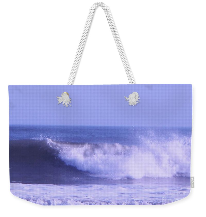 Wave Weekender Tote Bag featuring the photograph Wave At Jersey Shore by Eric Schiabor