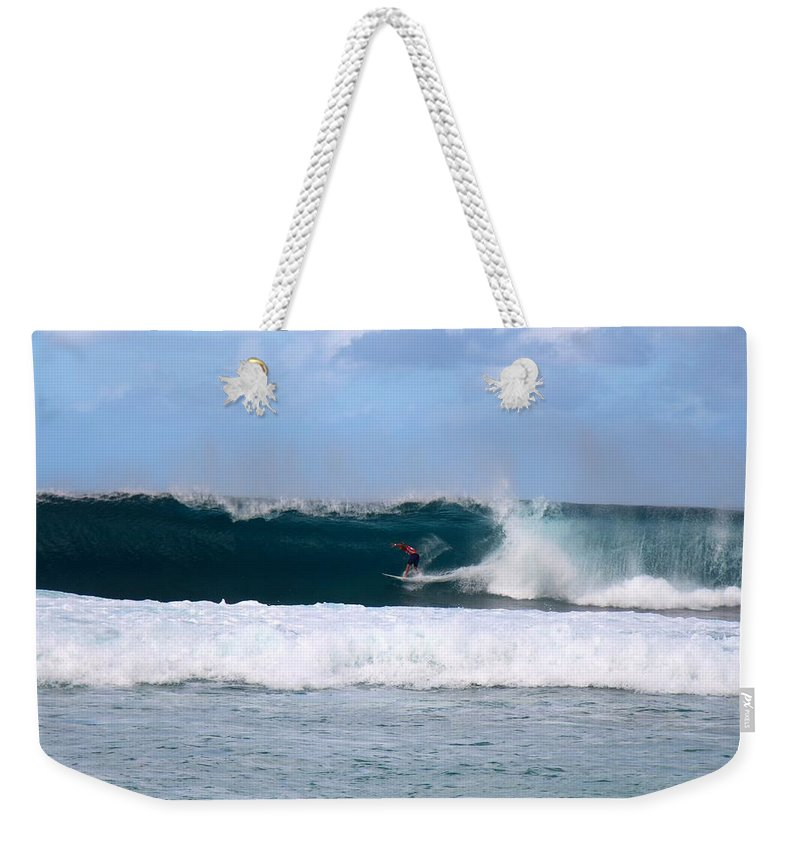 Wave Weekender Tote Bag featuring the photograph Wave Magnet by Benen Weir