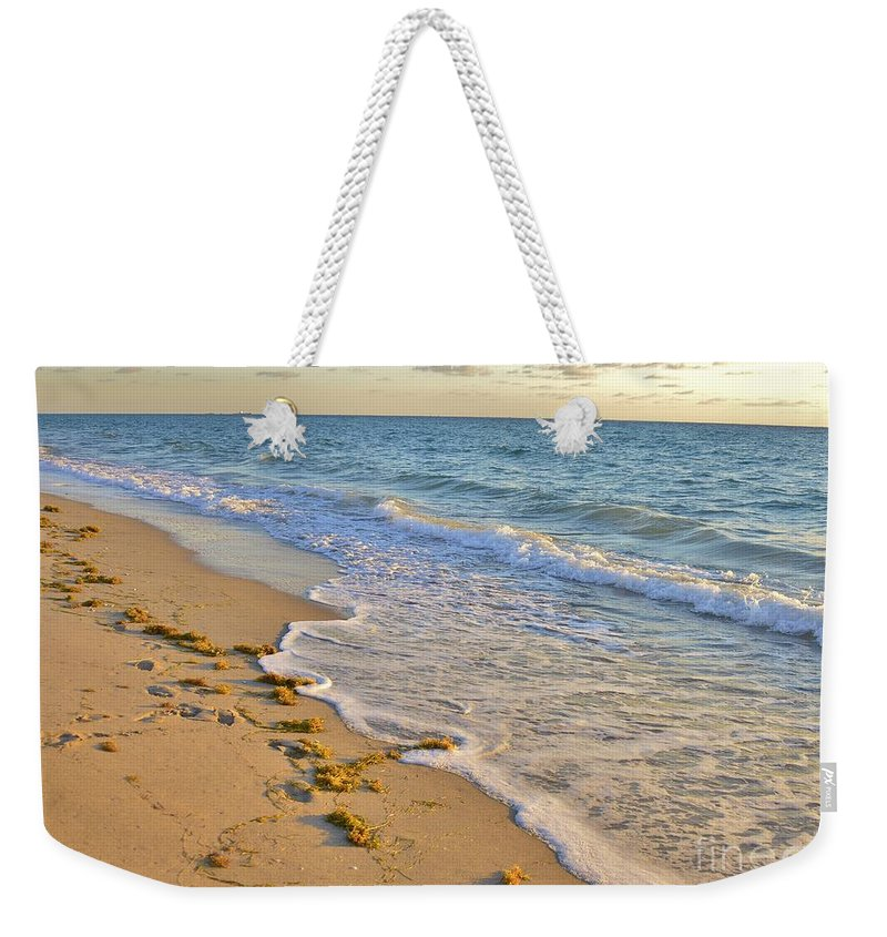 Wave Meditation Weekender Tote Bag featuring the photograph Wave Meditation by Lisa Renee Ludlum