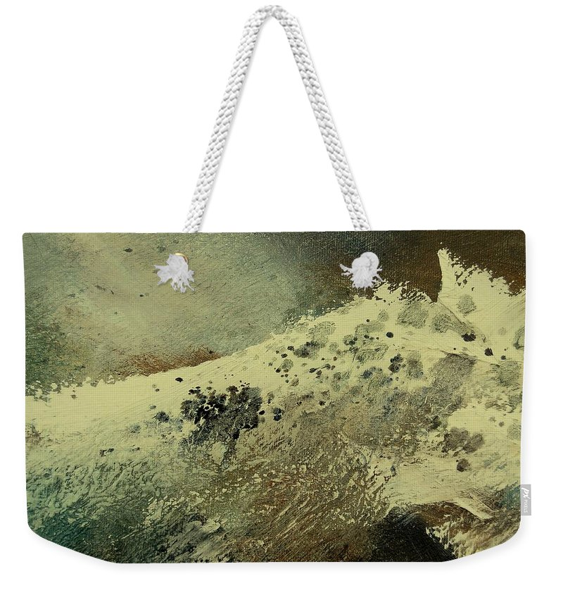 Sea Weekender Tote Bag featuring the painting Wave by Pol Ledent