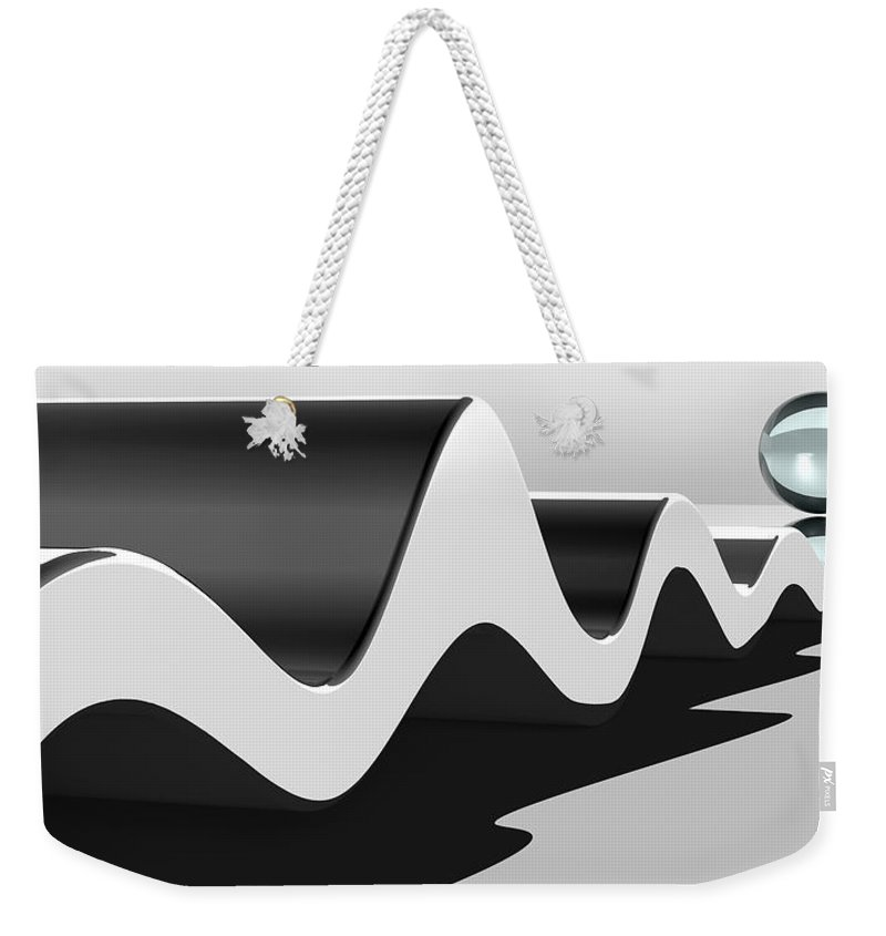 Wavelength Weekender Tote Bag featuring the digital art Wavelength by Richard Rizzo