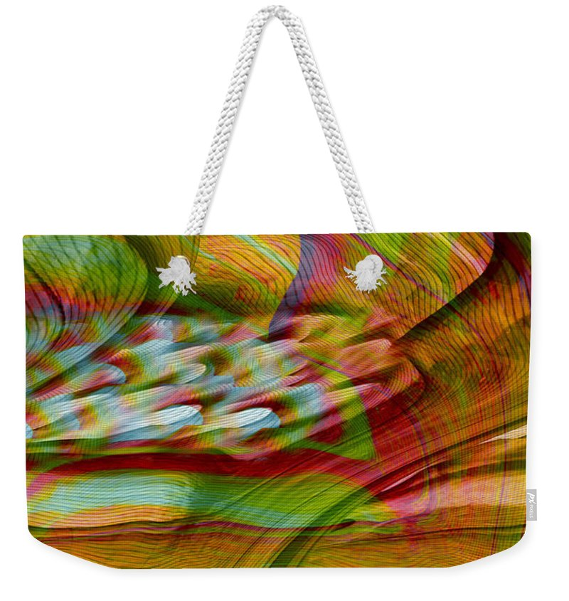 Abstracts Weekender Tote Bag featuring the digital art Waves And Patterns by Linda Sannuti