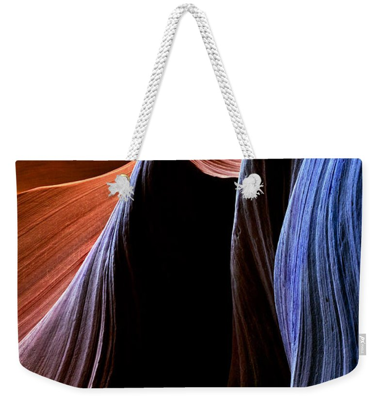 Sandstone Weekender Tote Bag featuring the photograph Waves by Mike Dawson