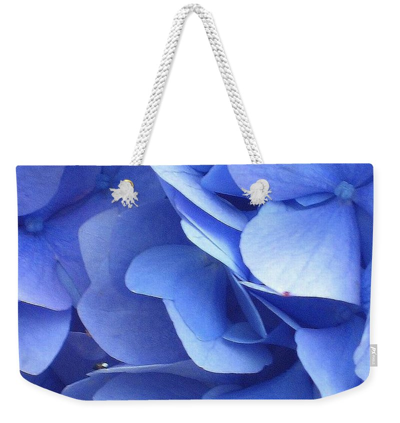Floral Weekender Tote Bag featuring the photograph Waves Of Blue by Marla McFall