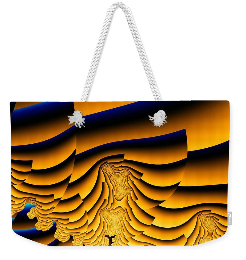 Fractal Image Weekender Tote Bag featuring the digital art Waves Of Grain by Ron Bissett