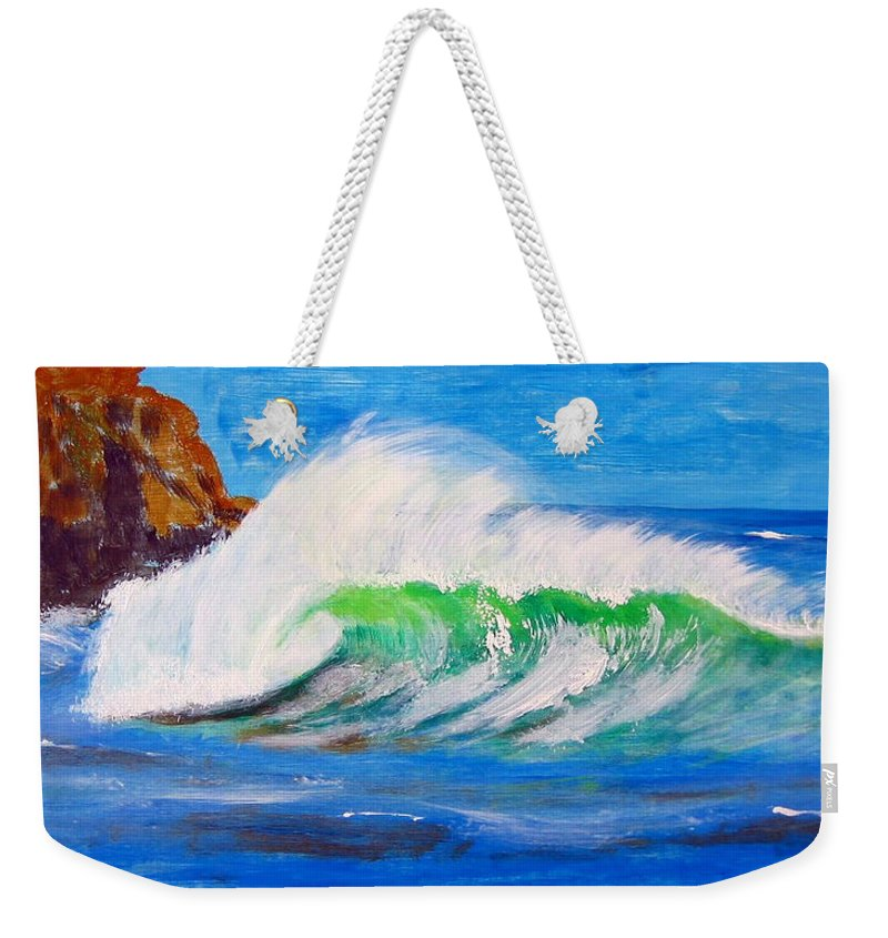 Waves Weekender Tote Bag featuring the painting Waves by Richard Le Page