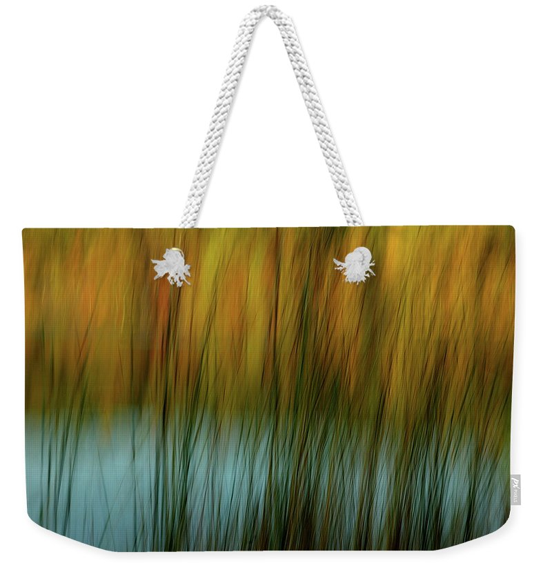 Tall Grass Weekender Tote Bag featuring the photograph Wavy by Randy Pollard