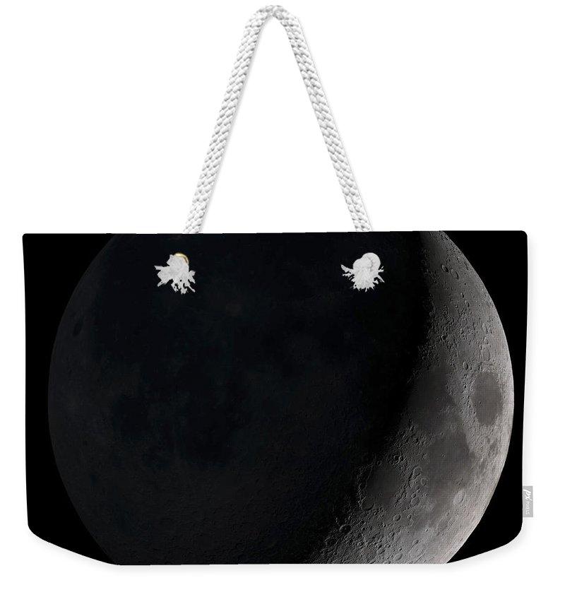 Black Background Weekender Tote Bags