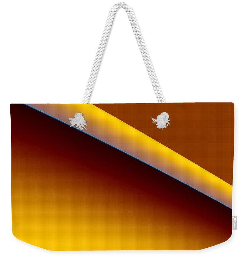 Digital Art Weekender Tote Bag featuring the digital art way II by Dragica Micki Fortuna