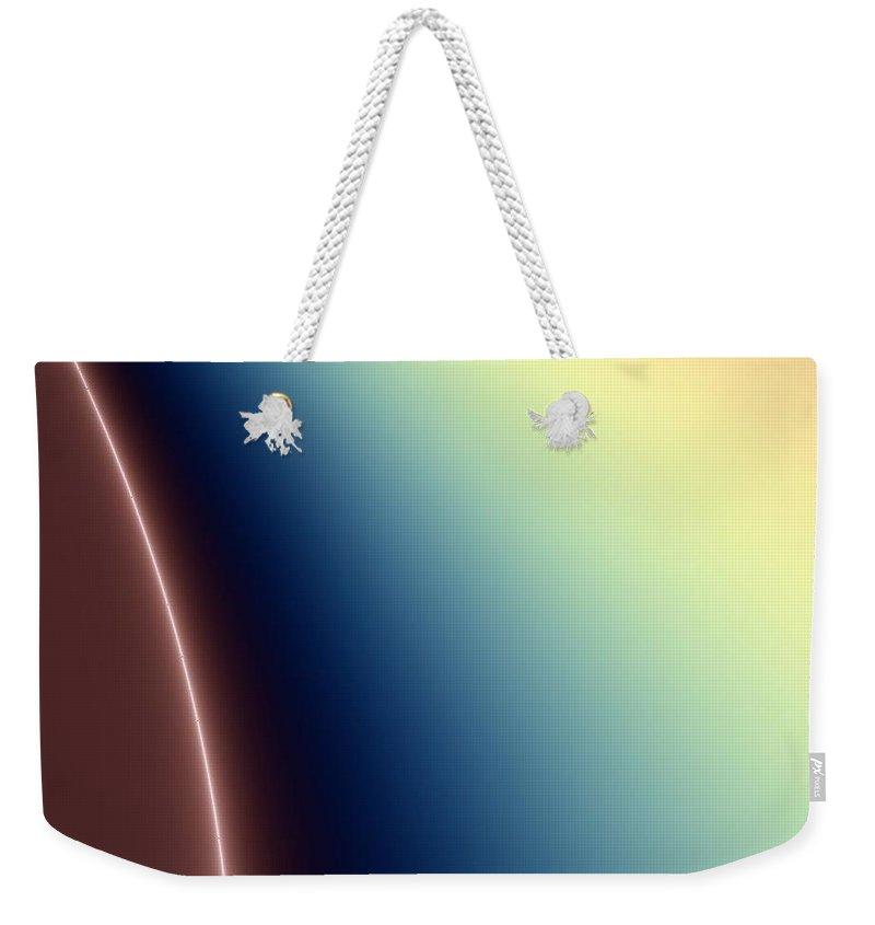 Digital Art Weekender Tote Bag featuring the digital art Way Out II by Dragica Micki Fortuna