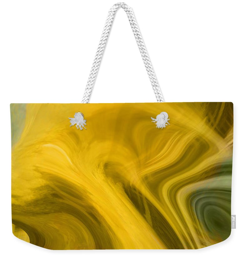 Abstract Art Weekender Tote Bag featuring the digital art Way Out Of Here by Linda Sannuti