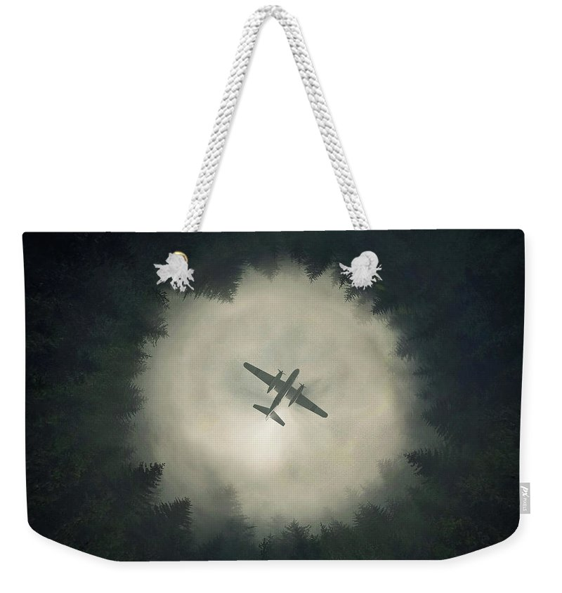 Airplane Weekender Tote Bag featuring the digital art Way Out by Zoltan Toth