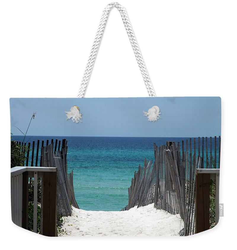 Photography Weekender Tote Bag featuring the photograph Way To The Beach by Susanne Van Hulst