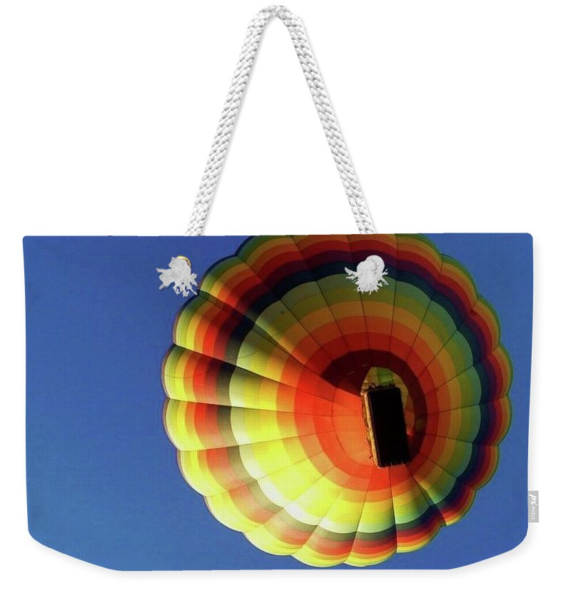 Balloon Weekender Tote Bag featuring the photograph Way Up In The Air by Marla McFall