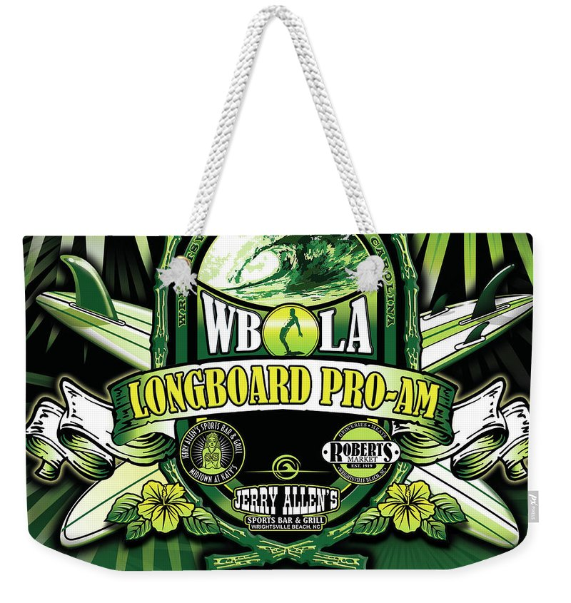 Longboard Surf Weekender Tote Bag featuring the digital art Wbla Proam 2016 by William Love