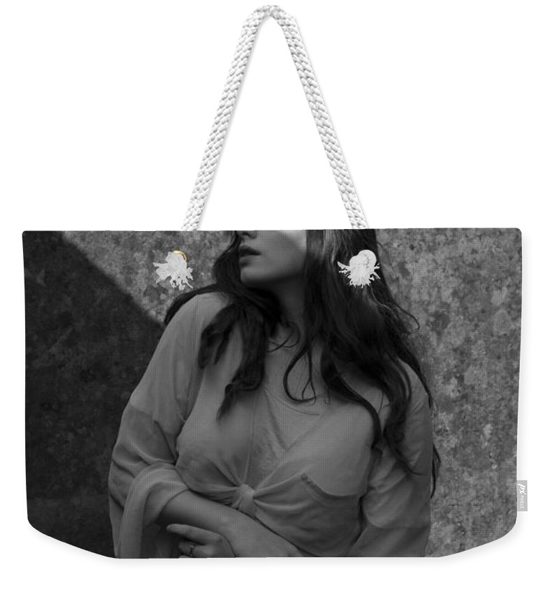Woman Weekender Tote Bag featuring the photograph We Are All Made Of Light And Shadows by Clayton Bastiani