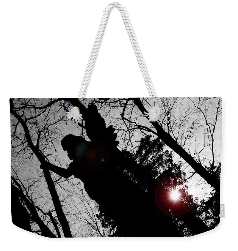 Angel Weekender Tote Bag featuring the photograph We Are Everywhere by Betsy Knapp