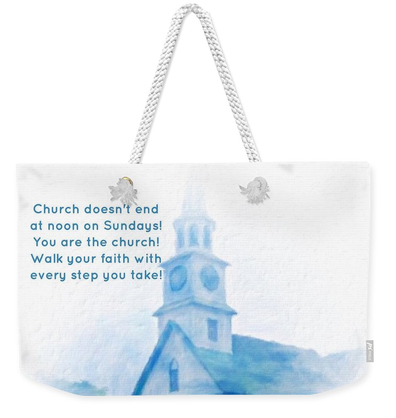 Hawaii Weekender Tote Bag featuring the digital art We Are The Church by Diane Lindon Coy