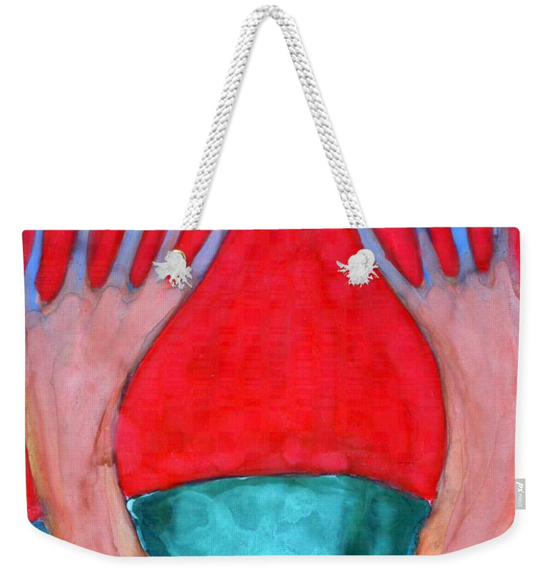 Colour Weekender Tote Bag featuring the painting We Are by Wojtek Kowalski