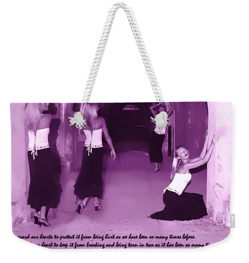 All Rights Reserved Weekender Tote Bag featuring the photograph We Guard Our Heart by Clayton Bruster