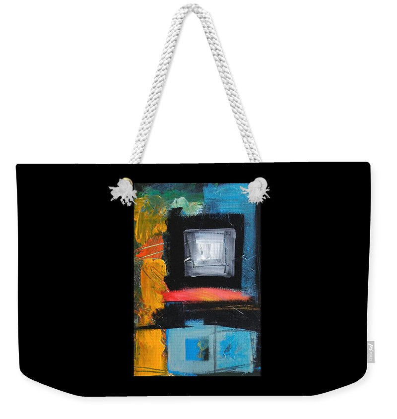Abstract Weekender Tote Bag featuring the painting We Interrupt Detail by Tim Nyberg