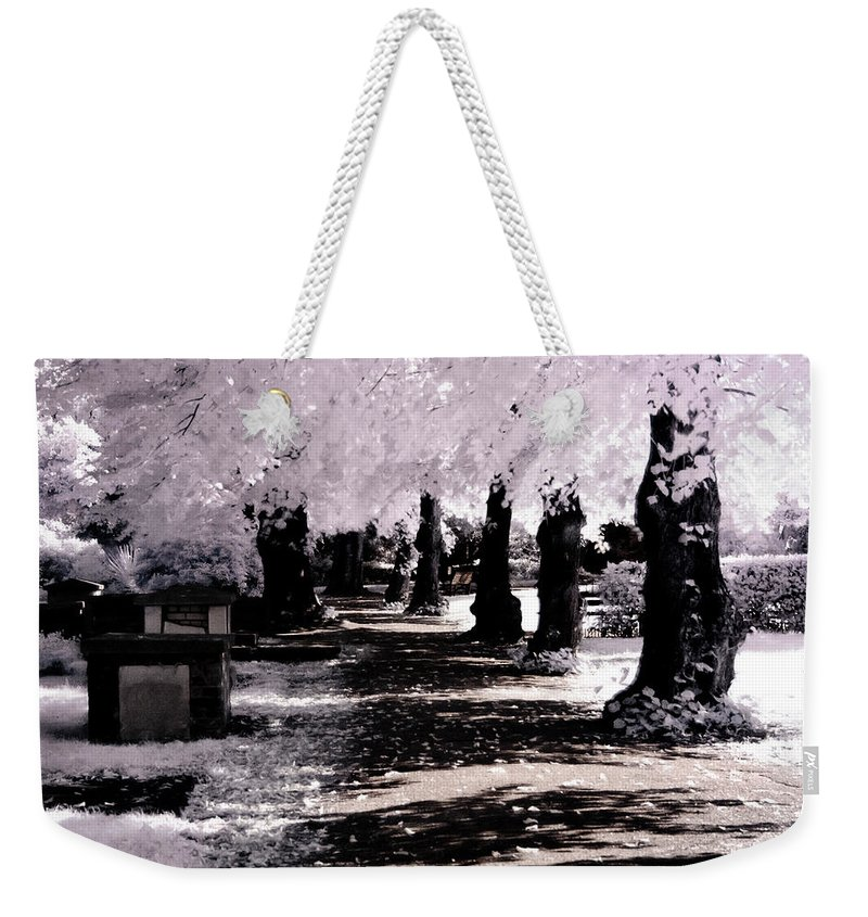 Nature Weekender Tote Bag featuring the photograph We Will Be Trees by Helga Novelli