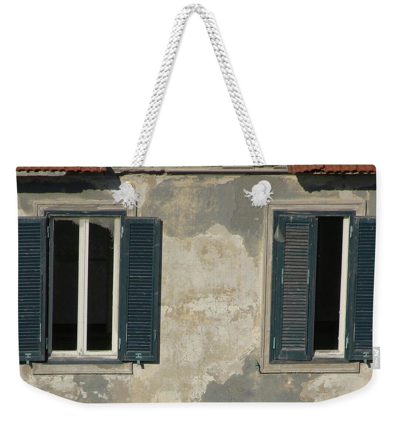 Weekender Tote Bag featuring the photograph Weathered by Bruce Gaynor