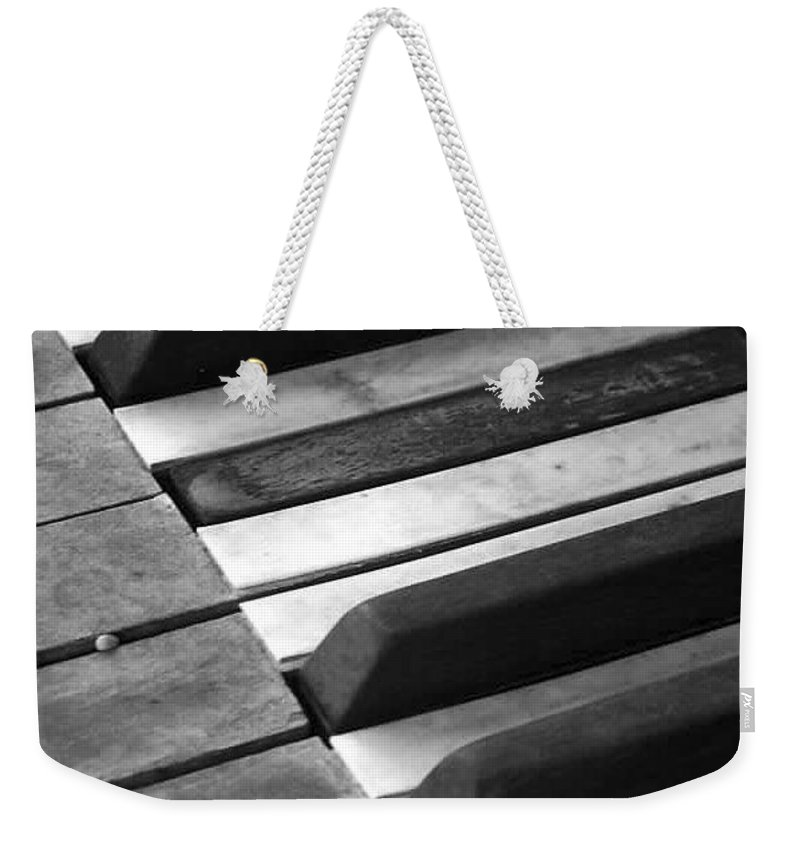 Piano Weekender Tote Bag featuring the photograph Weathered Music by Adam Vance
