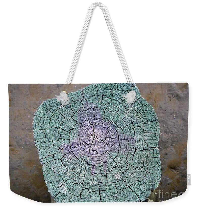 Pier Weekender Tote Bag featuring the photograph Weathered Pier by David Lee Thompson
