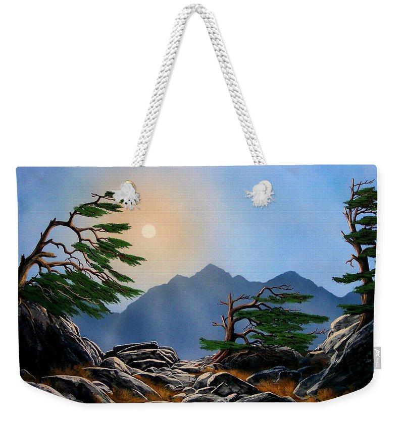 Weathered Warriors Weekender Tote Bag featuring the painting Weathered Warriors by Frank Wilson