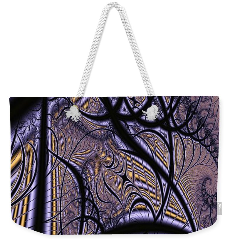 Weave Weekender Tote Bag featuring the digital art Weave Interrupted by Ron Bissett