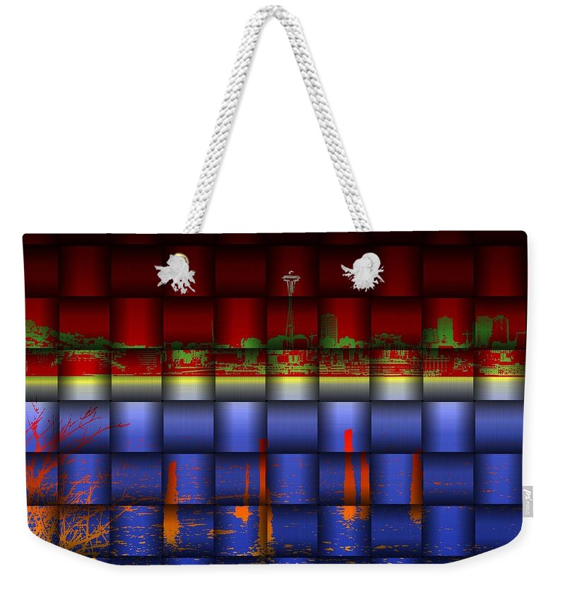 Seattle Weekender Tote Bag featuring the photograph Weave Of The Needle by Tim Allen