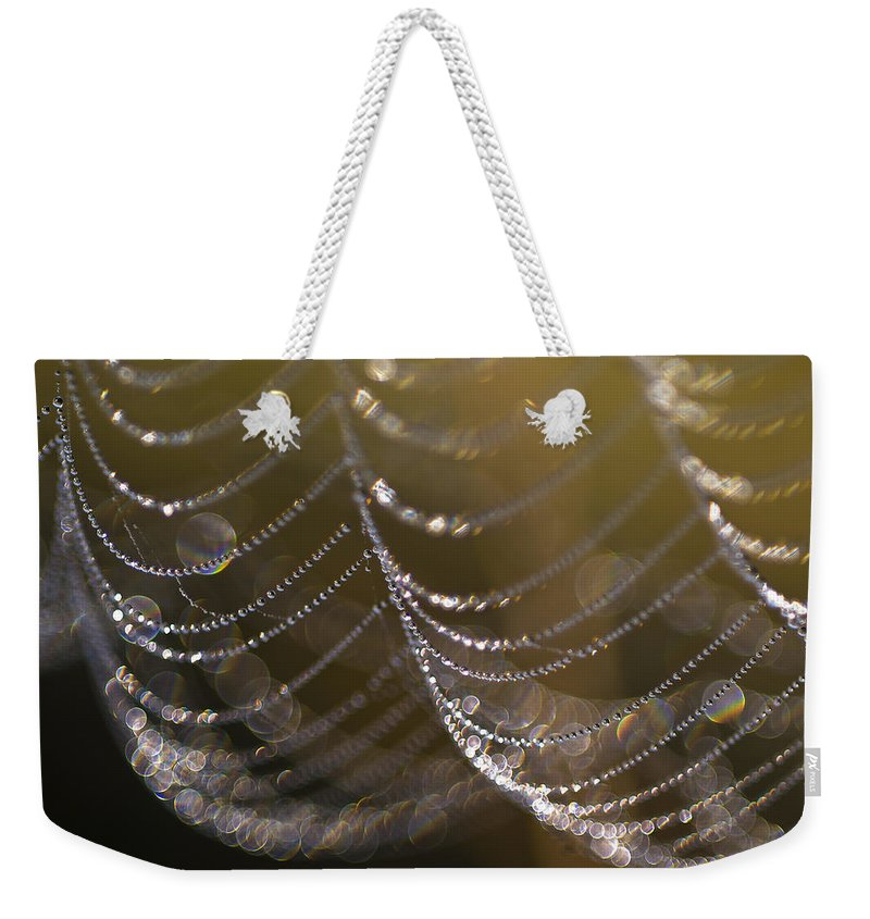 Abstraction Weekender Tote Bag featuring the photograph Web Sparkle by Robert Potts