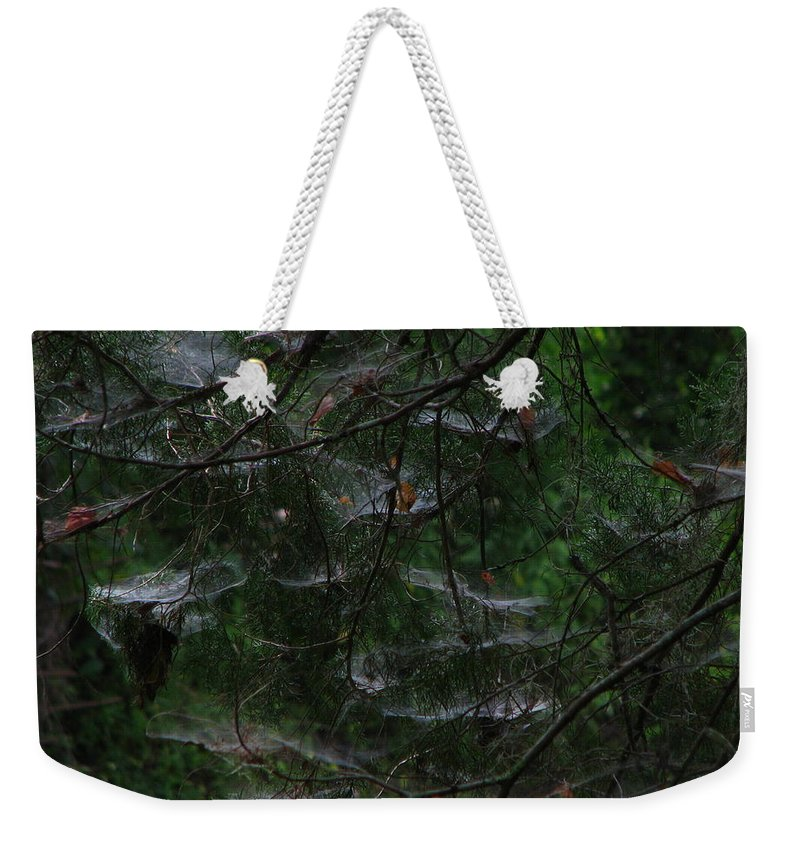 Patzer Weekender Tote Bag featuring the photograph Webs Of A Tree by Greg Patzer