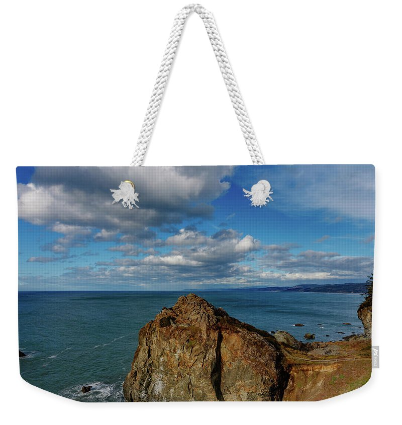 Patrick Point Weekender Tote Bag featuring the photograph Wedding Rock Patrick Point by Mike Penney
