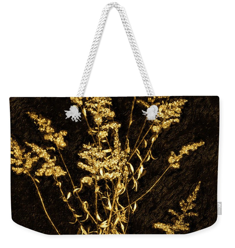 Weed Weekender Tote Bag featuring the photograph Weed Portrait by Steve Harrington