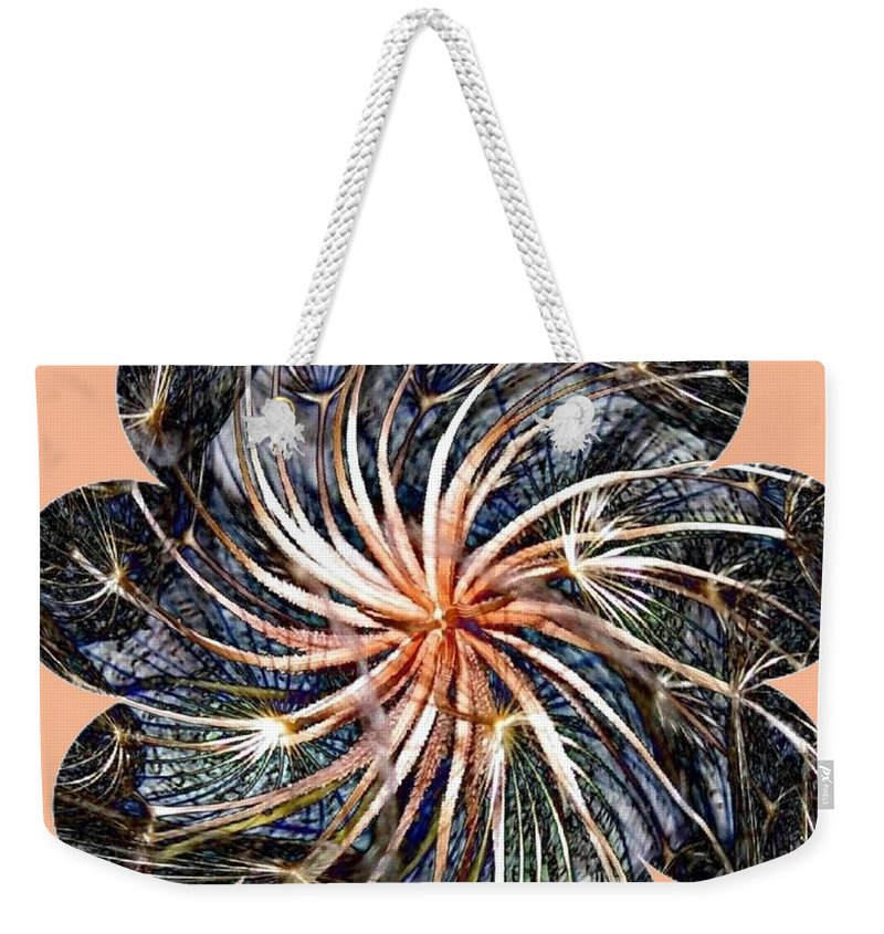 Weed Weekender Tote Bag featuring the digital art Weed Whirl by Will Borden