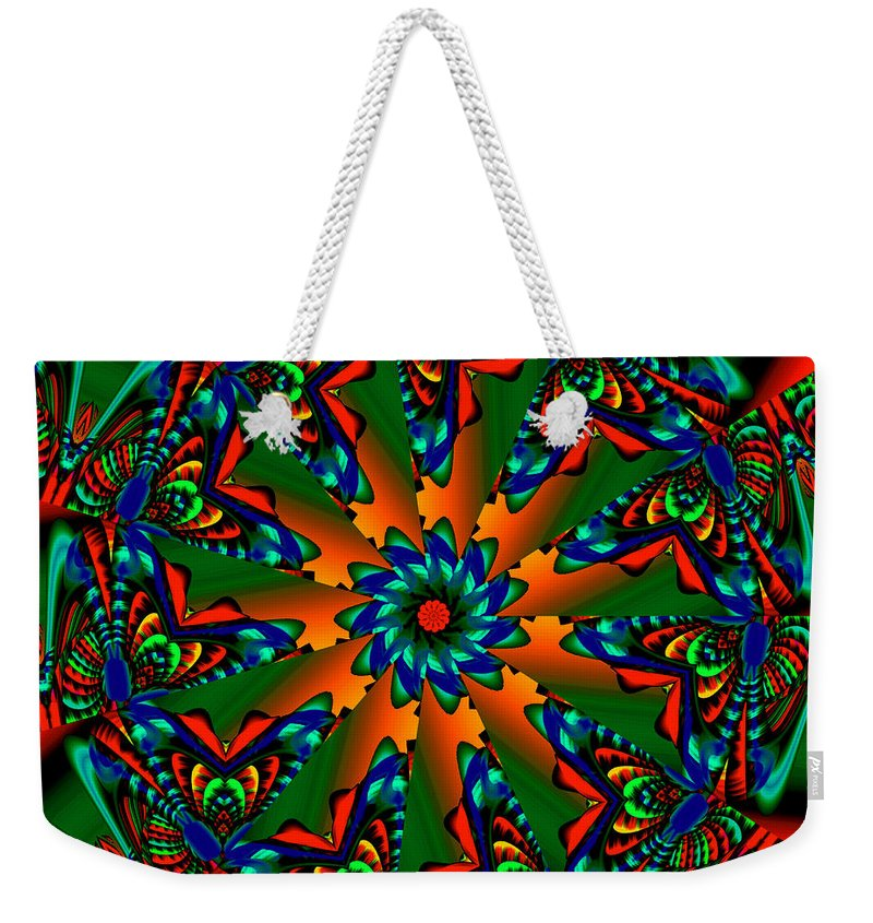 Wheel Weekender Tote Bag featuring the digital art Weedhopper by Robert Orinski