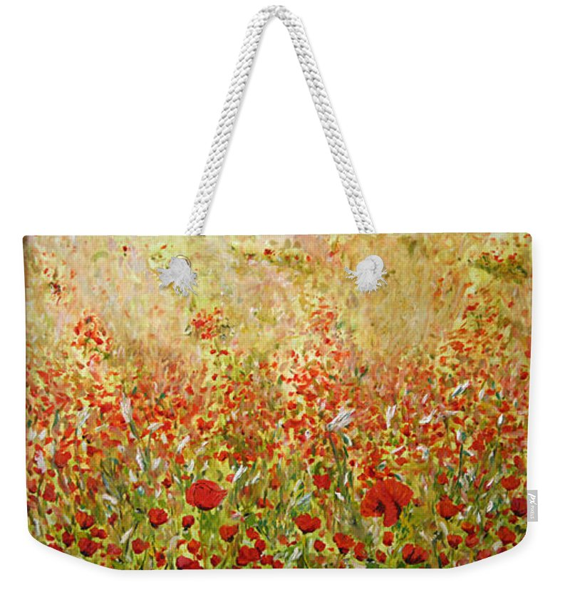 Landscape Weekender Tote Bag featuring the painting Weeds by Pablo de Choros