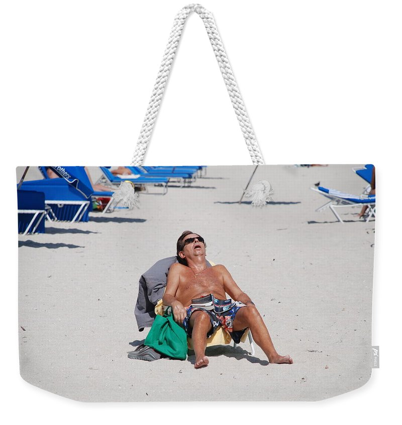 Beach Weekender Tote Bag featuring the photograph Weekend At Bernies by Rob Hans