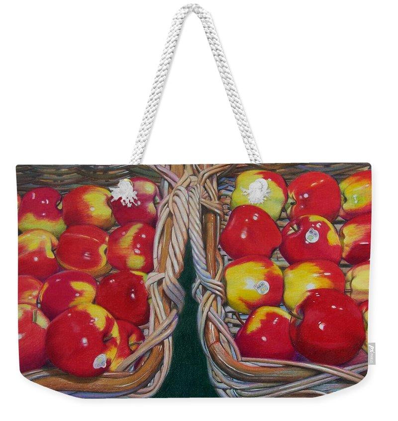 Apple Weekender Tote Bag featuring the mixed media Wegman's Best by Constance Drescher