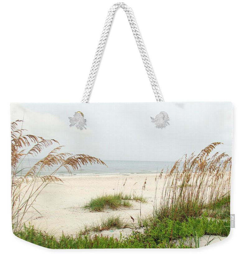 Beaches Weekender Tote Bag featuring the photograph Welcome by Amanda Barcon