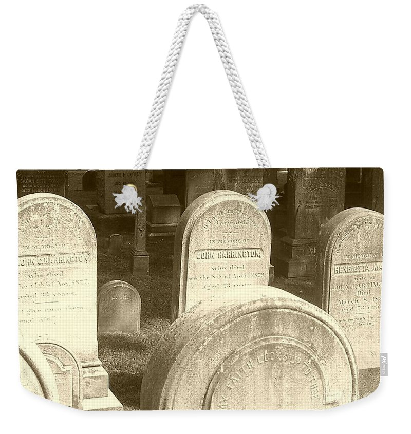 Cemetery Weekender Tote Bag featuring the photograph Welcome by Debbi Granruth